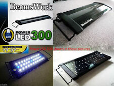 "Beamswork aquarium Power LED 300 light lamp 45-60 cm 17""-21"" tank bright hang on"