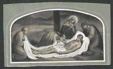 Estampa antigua Virgen de la Piedad andachtsbild santino holy card santini