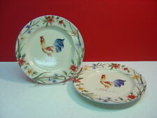 Coventry Stoneware SPRING ROOSTER Two Salad Plates