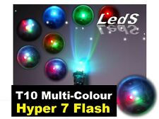 Flashing LED T10 W5W Red Green Blue Flash Light Bulbs ..