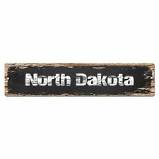 SP0082 North Dakota Street Sign Bar Store Shop Cafe Home Kitchen Chic Decor