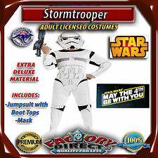 Deluxe Licensed Stormtrooper Adult Star Wars Storm Trooper Men's Costume Party