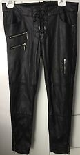 Divided Faux Leather Pants Black
