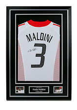 Paolo Maldini Signed AC Milan Shirt Framed Autograph #3 Away Jersey Memorabilia