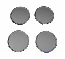 4 Ps Set Universal Wheel Rims Center Centre Hub Caps 65/68 mm. Plastic Gray New