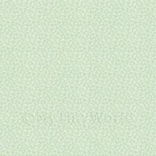 Dolls House Miniature Sage Green Stylised Leaves Wallpaper