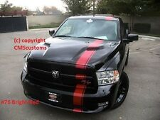 Dodge Ram 1500 Truck Mopar Racing Stripes Decals Trunk Hood Graphics Red #76