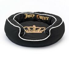 "New JUICY COUTURE Limited Edition Black SMALL PET BED 21""x21"" for CAT/DOG"