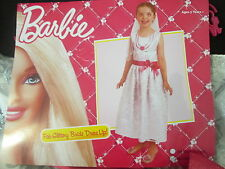 BARBIE FAB GLITTERY BRIDE DRESS UP COSTUME Size Small 3-5 Years BRAND NEW
