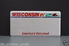 US USA CAR WISCONSIN State Kennzeichen Schild, Nummernschild DEIN WUNSCH TEXT