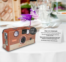 10 Kodak Brownie Vintage PERSONALIZED Wedding Disposable Cameras,retro,vintage