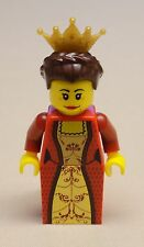 NEW Lego Castle Minifig Queen Girl Lady w/ Dark Brown Hair & Crown KINGDOMS