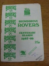 1985/1986 Bromsgrove Rovers v Redditch United  (team changes)