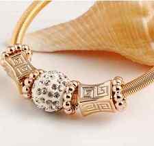 Armband gold silber  farben Beadarmband Strass elastisch Bettelarmband  schick