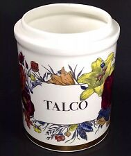 Piero Fornasetti Talco Flowers Jar Vase Storage Canister NO LID Signed MCM Italy