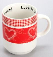"""24 Stück Tasse Porzellan Herz """"Love is all around"""" Geschenk Sonderposten 457 +"""