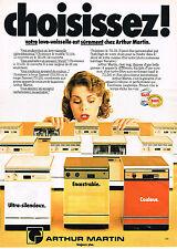 PUBLICITE ADVERTISING 114  1980  ARTHUR MARTIN  lave vaisselle