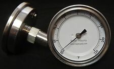 """1/2"""" NPT Stainless Steel Thermometer for Still Condenser Brew Pot"""