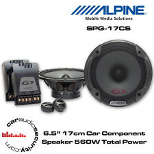 "Alpine SPG-17CS - 6.5"" 16.5cm 2-Way Car Component Speaker 560 Total Power"