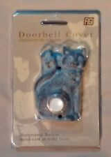 FIGI Cat Butterfly Illuminated Doorbell Cover Handcast Solid Brass