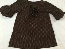 Baby Gap Size 2 Years Portobello Brown & Pink Polka-dot Pinwale Corduroy Dress