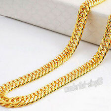 Noble Mens Womens Charming 24K Yellow Gold Filled Chain Necklace Jewelry 9mm