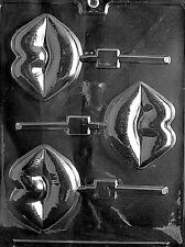 Lips Lollipop Sucker Valentines Day Chocolate Mold  Candy SHIPS SAME DAY m164
