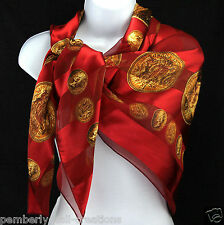Coins Of Gold Womens Scarf Money Collecting Striped Red Gift Fashion Scarves New