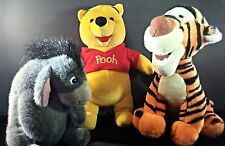 Lot 3 Winnie The Pooh Eeyore Tiger Walt Disney World B7319 Plush Animal USA