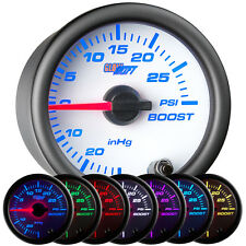 52mm GLOWSHIFT WHITE 7 COLOR LED TURBO BOOST VACUUM GAUGE for SUBARU WRX STI