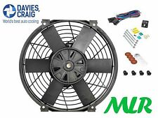 DAVIES CRAIG 10INCH SLIMLINE 50MM THICK ELECTRIC ENGINE COOLING FAN & FIT KIT PI
