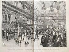 Grande Litho Exposition Universelle 1889 Palais de L'Industrie L'Illustration