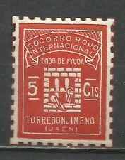 0830-SELLO LOCAL ESPAÑA GUERRA CIVIL TORREDONJIMENO JAEN S.R.I.MNH** FONDO DE AY