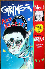 GRIMES Art Angels 2015 Ltd Ed New RARE Poster +Pop/Dance/Indie Poster! Visions