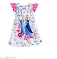 NWT Disney Store FROZEN Elsa & Anna Nightgown Girls Size 7/8 Medium