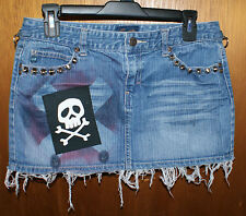 ONE OF A KIND HANDMADE PUNK SKIRT - skater hardcore DIY misfits emo crust
