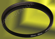 55mm to 58mm 55-58 55-58mm 55mm-58mm Stepping Step Up Filter Ring Adapter