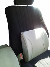 Deluxe Back Lumbar Support Cushion - Car or Office Seat Gray