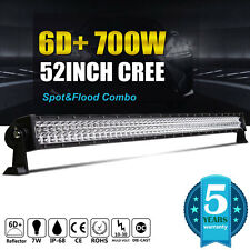 6D+ 700W CREE 52Inch LED Work Light Bar Combo Flood Spot Bar Driving Offroad 50""
