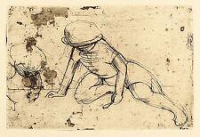 Hans Theo giudici-bambini scene-sede estremità bambino con cucchiaio-ACQUAFORTE 1935