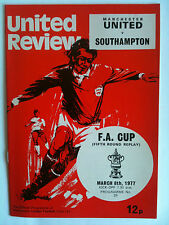 1976/77 Manchester United v Southampton FA Cup 5th Rd Replay