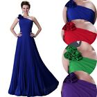 Stock Chiffon Formal Evening Party Gown Wedding Bridesmaids Prom Dress