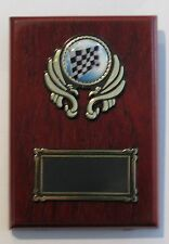 Motorsports Checked Flag Trophy / Wooden  Plaque 125x90mm  Engraved FREE