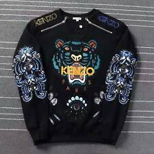 BNWT 100% AUTHENTIC KENZO 'tiger embroidered sweatshirt' Black Sweater L