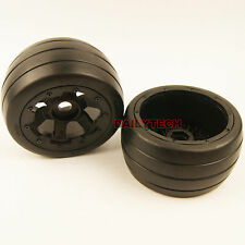 Rovan Rear On road Racing Slick Tire and wheel for 1/5 HPI KM Baja 5B SS
