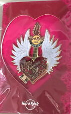Hard Rock Cafe MUNICH 2015 Valentine's Day PIN w/Card Winged Heart Guitar LE 250
