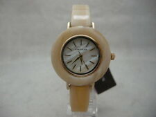Authentic Anne Klein AK-2524CMHN Round Dial Resin Bracelet Women's Watch