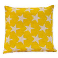 Yellow Stars Kids Nursery Cotton Linen Sofa Decor Cushion Cover PillowCase 45cm