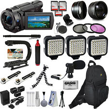 Sony FDR-AX53 4K HD Handycam Camcorder Video Camera + Action Accessory Set Kit