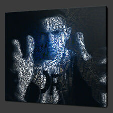 "EMINEM TYPOGRAPHY ART MODERN PICTURE PHOTO BOX CANVAS PRINT 12""x12"" FREE UK P&P"